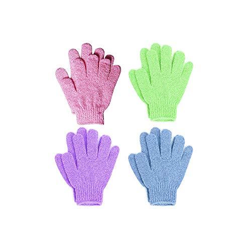 4 Paare Peeling Handschuhe Bad Ganzkörper Scrub Dusche Handschuhe Spa Peeling Mtt Scrubs Abrüstung Tote Zellen Für Weiche Haut Und Verbessert Die Durchblutung