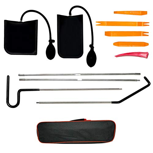 WonVon Full Professional Automotive Car Tool Kit, Car Tool Kits with Air Pump Bag,Easy Entry Long Reach Grabber, Air Wedge, Non Marring Wedge and PVC Bag for Cars Truck