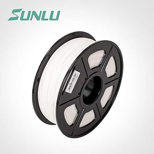 SUNLU 3D Pen Imprimante Filament Recharges ABS 1,75 mm, précision dimensionnelle +/- 0,02 mm, 1 kg (Blanc)