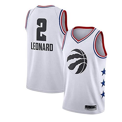 xiaotianshi Hombre NBA Baloncesto Jerseys Raptors # 2 Kawhi Leonard Classic Jersey, Desgaste Transpirable Durable Vintage Basketball All-Star Unisex,Blanco,L
