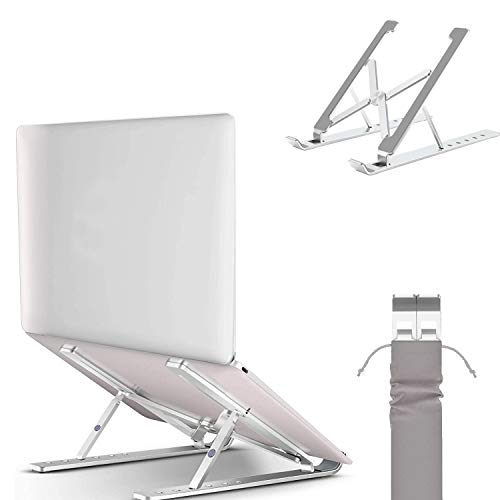 """Ergonomic Laptop Stand,GOODBONG Adjustable Aluminum Laptop Computer Stand Tablet Stand,Ergonomic Foldable Portable Desktop Holder Compatible with MacBook Air Pro, Dell XPS, HP, 10-15.6"""" Laptops"""