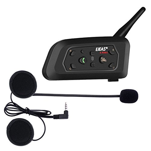 Ejeas V6 Pro Auriculares Intercomunicador Moto Bluet