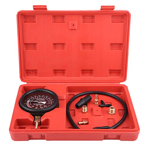 Keenso Vakuum und Kraftstoffpumpe Tester Tester Kit für Auto-Motor Vakuum Kraftstoffpumpe & Vakuum Tester Messgerät Vergaser Druck Diagnose Leckage Tester