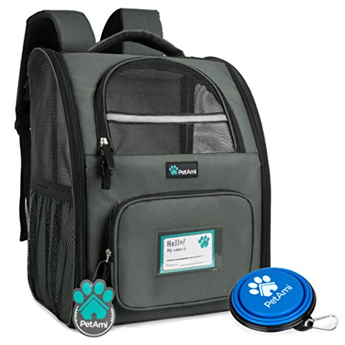 PetAmi Deluxe Pet Carrier Backpack for Small Cats and Dogs, Puppies | Ventilated Design, Two-Sided Entry, Safety...