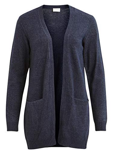 Vila Damen Viril L/S Open Knit Cardigan-noos Strickjacke, Pine Grove/MELANGE, M
