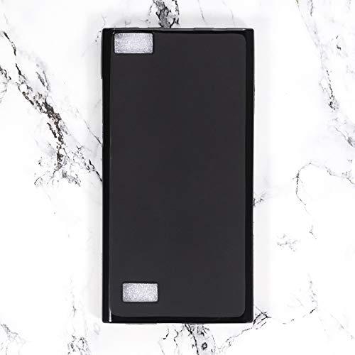 BlackBerry Leap Schutzhülle, kratzfest, weiche TPU-Rückseite, stoßfest, Silikon-Gel, Gummi, Anti-Fingerabdruck, Ganzkörper-Schutzhülle, für BlackBerry BB Leap (schwarz)