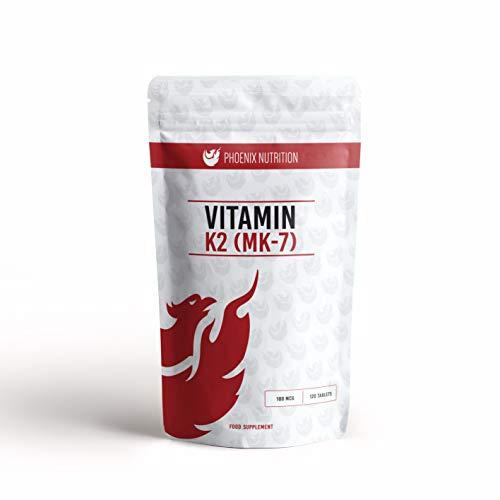 Vitamin K2 (MK-7) 100mcg x 120 Tablets - Phoenix Nutrition