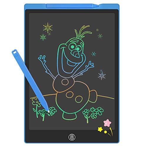 GUYUCOM Tavoletta Grafica Bambini da12 Pollici, Lavagna Magica per Bambini, Tavoletta Grafica LCD con Linee Luminose Colorate per Bambini,Grande Lavagnetta Cancellabile Bambini per Ragazze dei Ragazzi