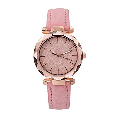 Reloj de pulsera para mujer o mujer, estilo informal, de cuarzo, resistente al agua, reloj de cuarzo