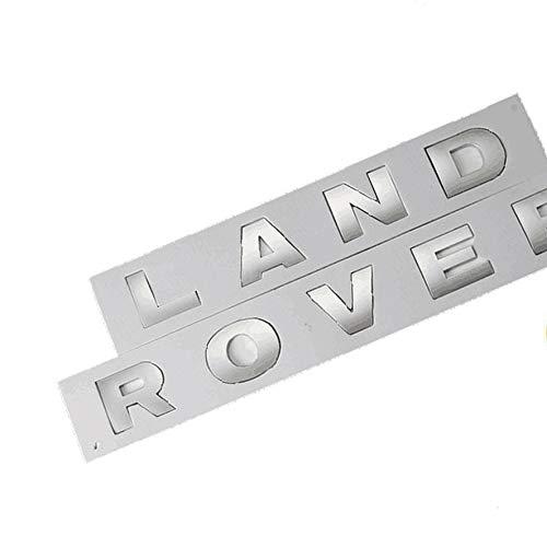 RNR Land Rover Schriftzug Silber Discovery Defender Freelander Schrift Buchstaben Emblem Neu + Schablone