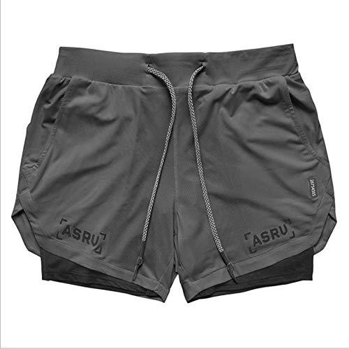 Pantalones Cortos Deportivos Hombres 2 En 1 Fitness Pantalon
