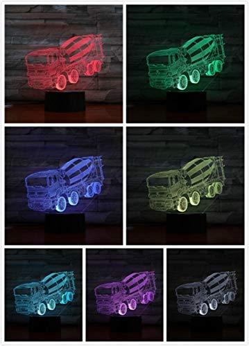 Nachtlampje Mixer Truck-touch Klein Nachtlampje 7 Kleuren Touch Optische Foto Tafel Decoratie Lamp, Geschikt Voor Slaapkamer Bar Sfeerlamp