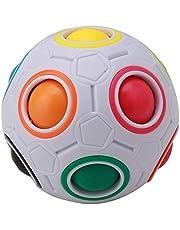 Kongqiabona-UK Rainbow Magic Ball Plastic Cube Twist Puzzle för tonåringar vuxen leksak