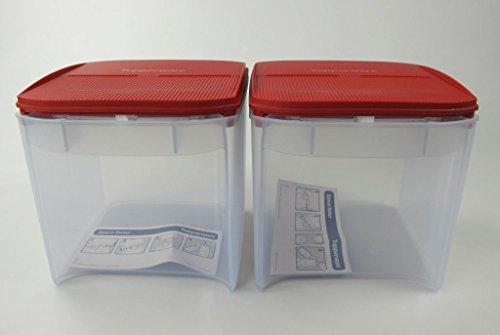 TUPPERWARE Eidgenossen Plus 3,4 L rot Eidgenosse Vorratsdose (2) Vorrat Modular