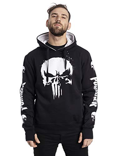 Desconocido The Punisher Skull Ninja - Sudadera con capucha, color negro