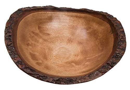 ROMBOL Dekorative Schale aus Mangoholz, oval, rund, groß