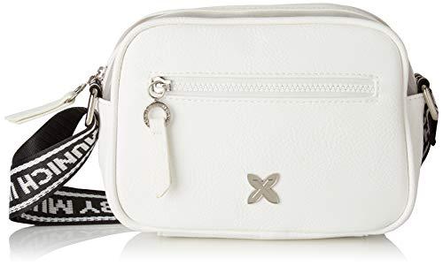 Munich Crossbody Tulle, Shopper para Mujer, Blanco (White), 5.5x15.5x20.5 cm (W x H x L)