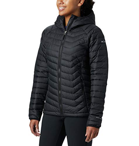 Columbia Women's Powder Lite Hooded Jacket, Black, Medium