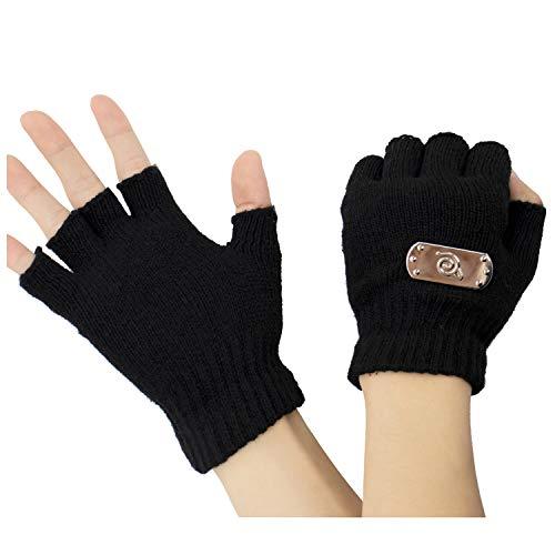 DAZCOS Kakashi Kid Gloves Cosplay Costume (Black)