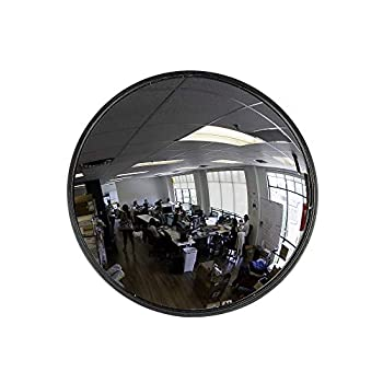 """12"""" Acrylic Convex Mirror Round Indoor Security Mirror for the Garage Blind Spot Store Safety Warehouse Side View and More Circular Wall Mirror for Personal or Office Use - Vision Metalizers"""