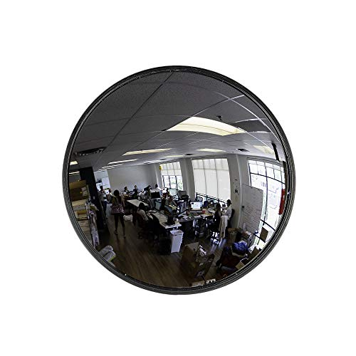 "12"" Acrylic Convex Mirror, Round Indoor Security Mirror for the Garage Blind Spot, Store Safety, Warehouse Side View, and More, Circular Wall Mirror for Personal or Office Use - Vision Metalizers"