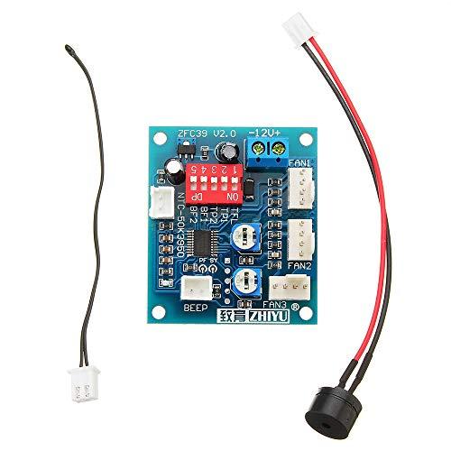 YWF Kit de electrónica Termostato de Cuatro alambres PC CPU Controlador de Temperatura Controlador de Velocidad Módulo DC 12V para máquina