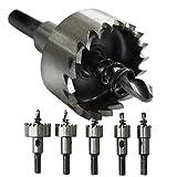 S&R Seghe a tazza Metallo HSS per Acciaio Cobalto / Set di 5 frese 16+18,5+20+25+30 mm per...