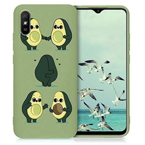 Yoedge Verde Custodia para Xiaomi Poco X3 NFC/Xiaomi Poco X3 6.67″ Dibujos Animados Carcasa de Silicona Case Protectora de TPU Suave Protección Cover para Poco X3 Teléfono Carcasas Fundas,Aguacate