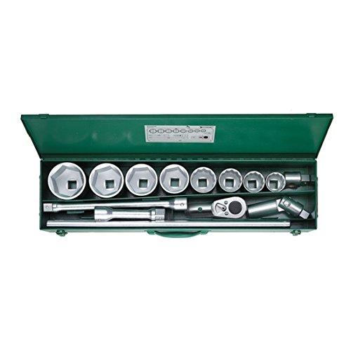 Stahlwille 96060103 Steckschlüsselgarnitur 14-teilig, im stabilen Stahlblechkasten