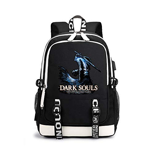 Dark Souls Children's Backpack School Soft Backpack Trendy Design Waterproof Schoolbag Sports Airy Daypack for Boys and Girls (Color : A16, Size : 30 X 15 X 43cm)