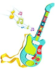 Webby Musical Rock Star Guitar with Flash Light Toy