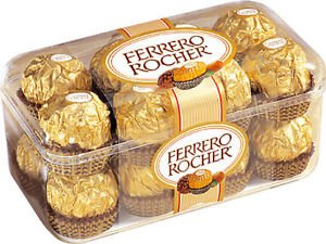 Ferrero Rocher Fine Hazelnut Chocolates - 7oz/16ct