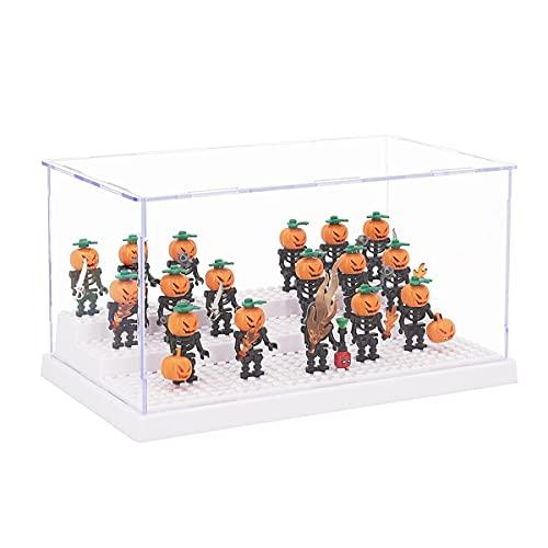 Tingacraft Acryl Vitrine Schaukasten (24 x 14 x 12 cm) für Minifiguren, Weiß