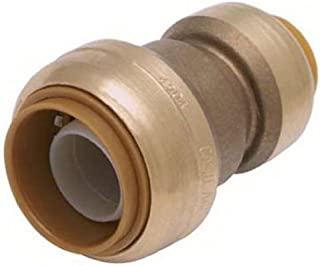 SharkBite Reducing Coupling, 3/4 Inch by 1/2 Inch, Push-to-Connect, PEX, Copper, CPVC, PE-RT, HDPE