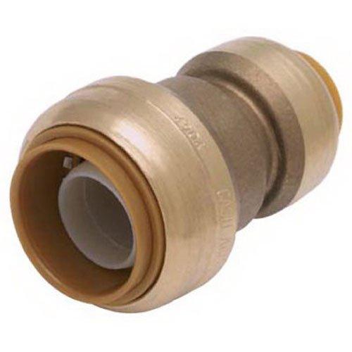 SharkBite U009LFA Push-Fit Reducing Coupling, 3/8 inch (1/2 inch OD) x 1/2 inch, BRASS