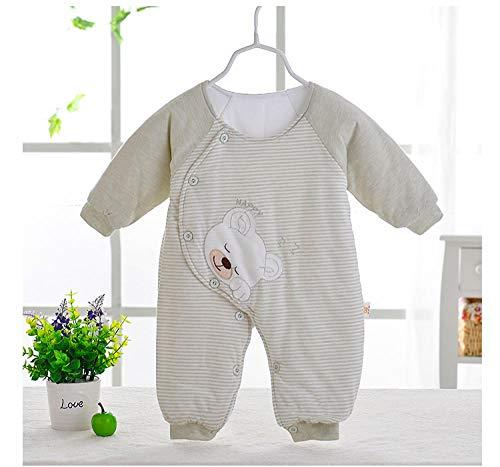 Sacco a pelo trapuntato primaverile e autunnale per neonato Sacco a pelo sottile in cotone per neonati verde-80 cm neonato sacco nanna invernale