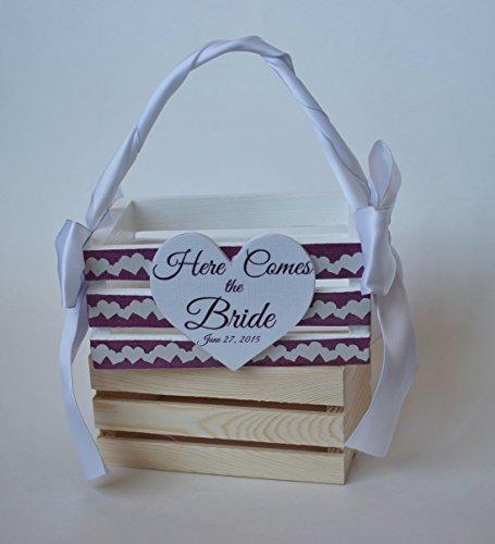 Custom Handmade Flower Girl Crate for Weddings