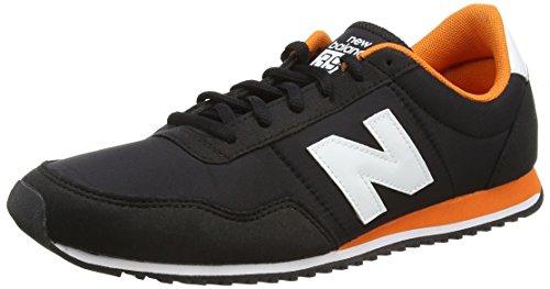 New Balance Herren U396 Clásico Sneaker, Mehrfarbig-Negro/Naranja, 41,5 EU
