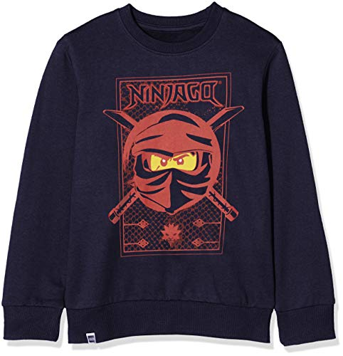 LEGO Wear Ninjago Cm ein Sweat-Shirt, Blau (Dark Navy 590), 104 cm