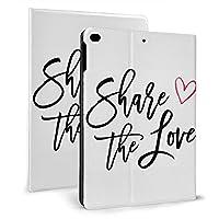 愛を共有する iPad 2018 ケース アイパッド 2017 9.7 ipad air2 手帳型保護カバー 耐衝撃 傷つけ防止 全面保護 二つ折 オートスリープ 高級PU レザーケース