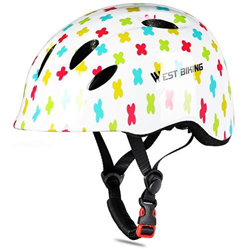 WESTGIRL Casco de bicicleta para niños, cómodo y ajustable, para patinar, para...