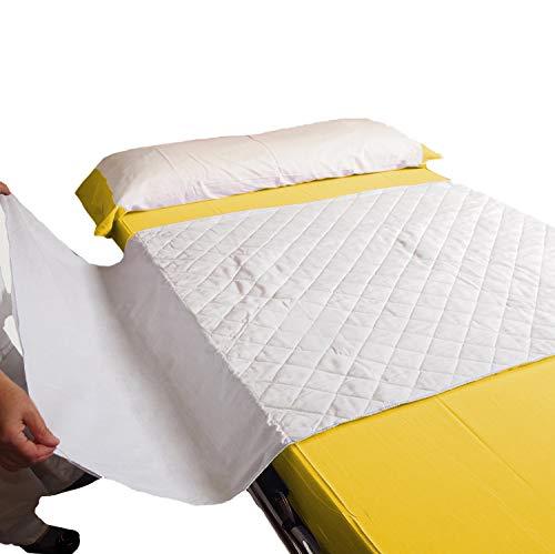 OrtoPrime Empapadores Cama Adultos LAVABLES 135 cm - Protector Cama ABSORBENTE 4,65 Litros – Empapador Cama Grande - PROTECTOR Colchón Impermeable - Empapador Reutilizable 400 Lavados