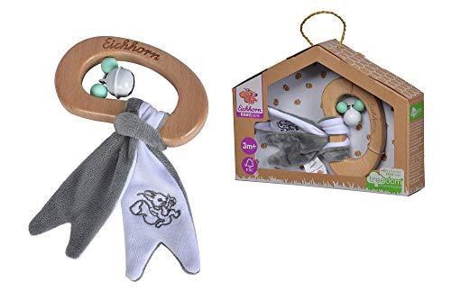 Eichhorn 100005711 Baby Pure Rassel aus FSC 100 Prozent zertifiziertem Buchenholz, nachhaltiges Holzspielzeug, mit Knisterfolie, für Kinder ab den ersten Lebensmonaten geeignet