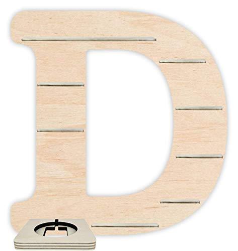 Farbklecks Collection Regal für Musikbox - Alphabet D - Natur mit Musikboxhalter