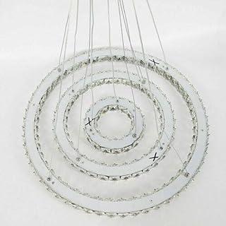 Lámpara de techo de cristal LED, anillo de araña de cristal, lámpara colgante con mando a distancia, regulable, 72 W