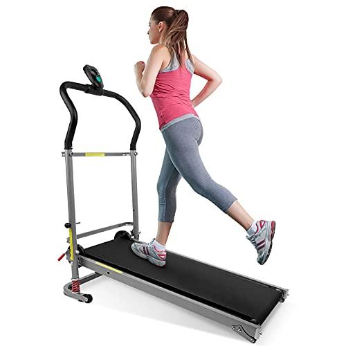 GOTOTOP - Cinta de correr plegable mecánica, máquina de caminar, fitness, diseño...