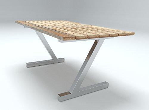 Tischgestell Edelstahl Tischuntergestell, Tischkufe, Kufengestelle, Gartentisch (Design Z Tischbeine)