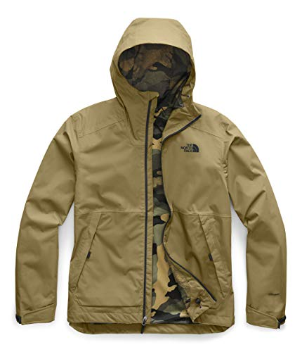 The North Face Men's Millerton Jacket, British Khaki/Burnt Olive Green Waxed Camo Print, L