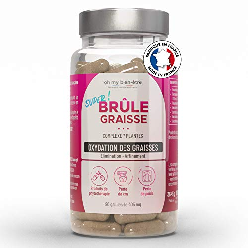 Bruleur de Graisses Puissant Extra Fort Femme Homme |100% Naturel | Haute Qualité Minceur Coupe Faim Ventre Plat | Fat Burner Efficace | Ebook OFFERT | 90 Gélules Végétales Made in France