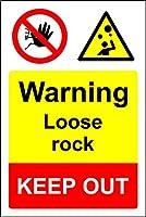 ガーダーン屋外および屋内サインインチ用、警告ルーズロックは立ち入り禁止、駐車場の装飾錫看板ボックスアルミニウム金属ノベルティ危険サイン